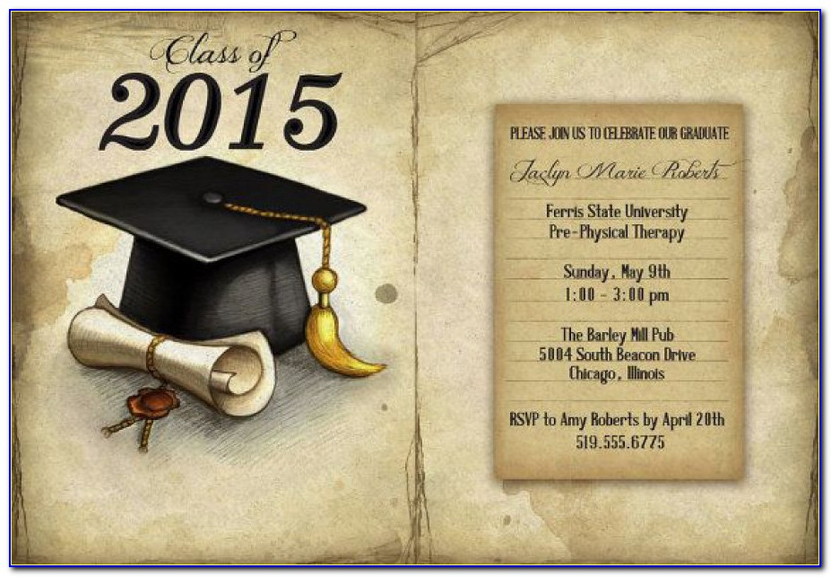 Downloadable Graduation Invitation Templates