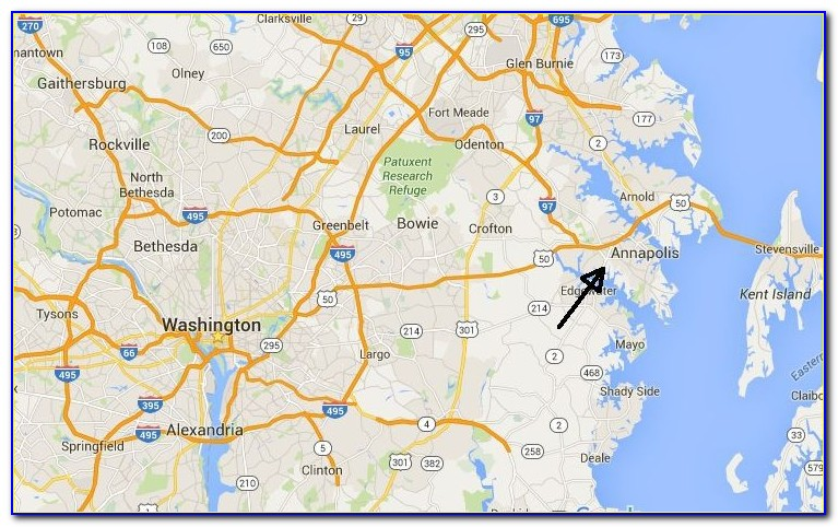 Downtown Annapolis Hotels Map