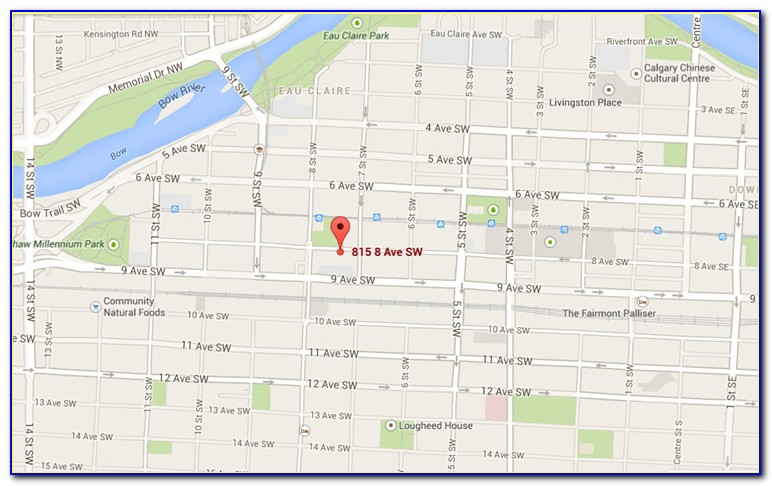 Downtown Calgary Hotels Map