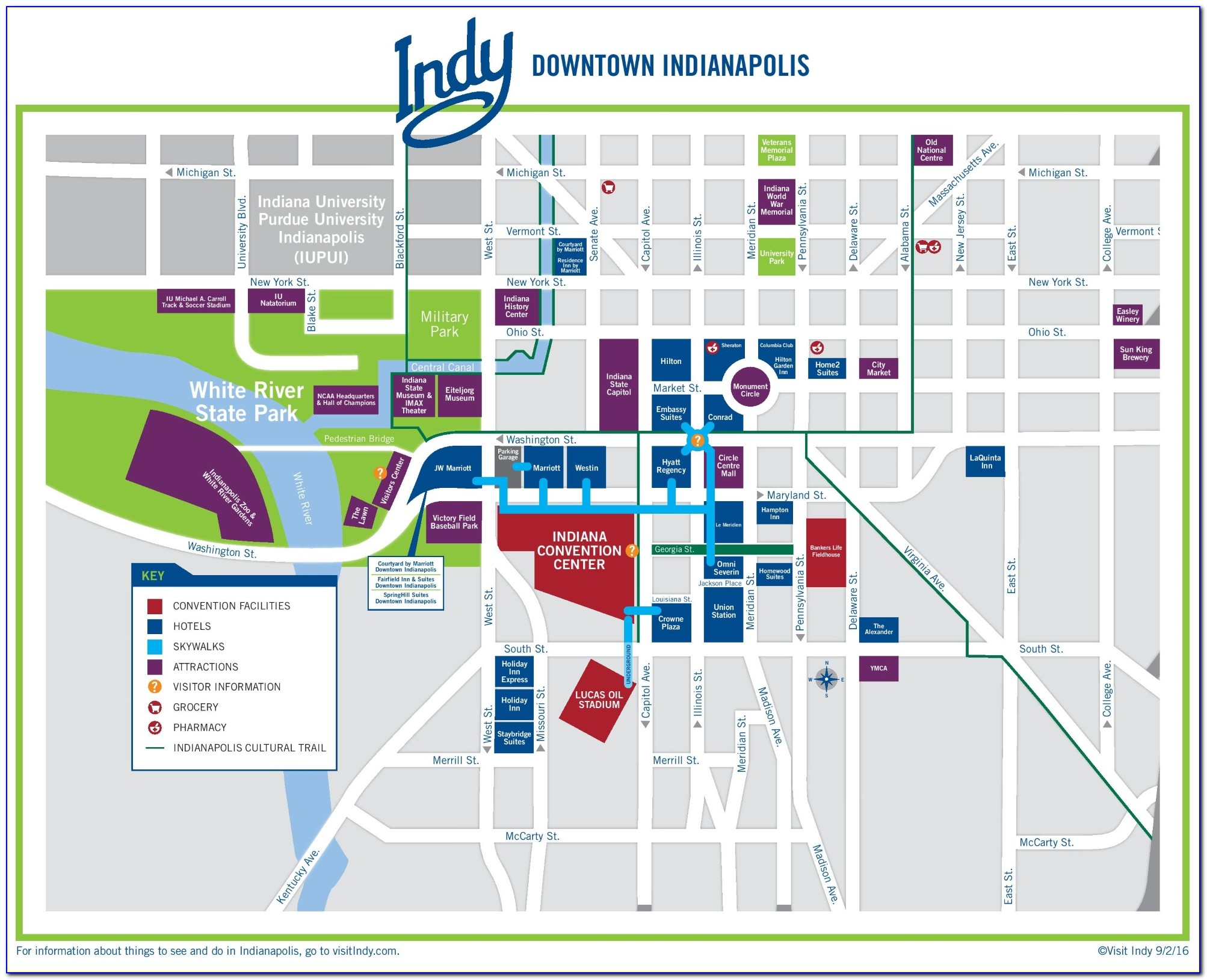 Downtown Indy Hotels Map