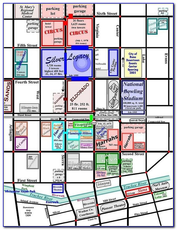 Downtown Reno Hotels Map
