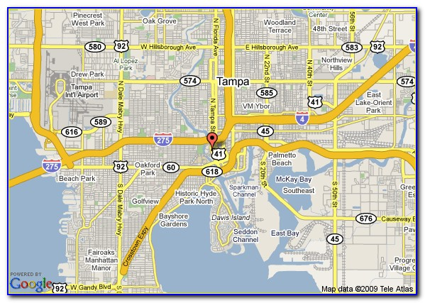 Downtown Tampa Hotels Map