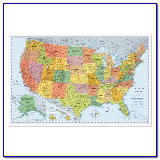 Dry Erase Us Wall Map