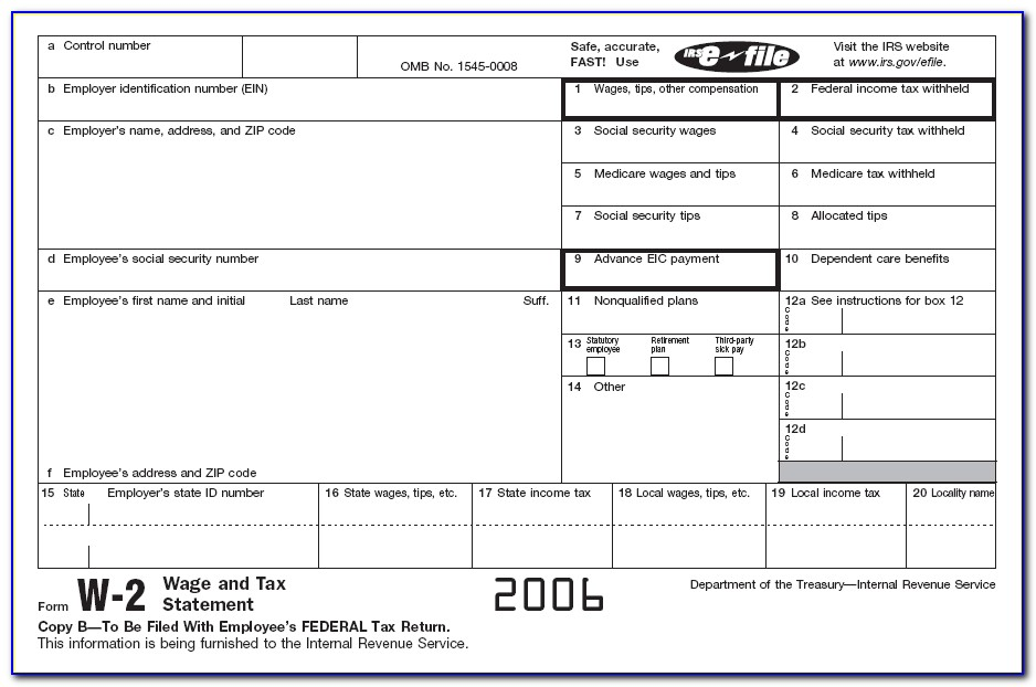 Duplicate W 2 Forms Irs