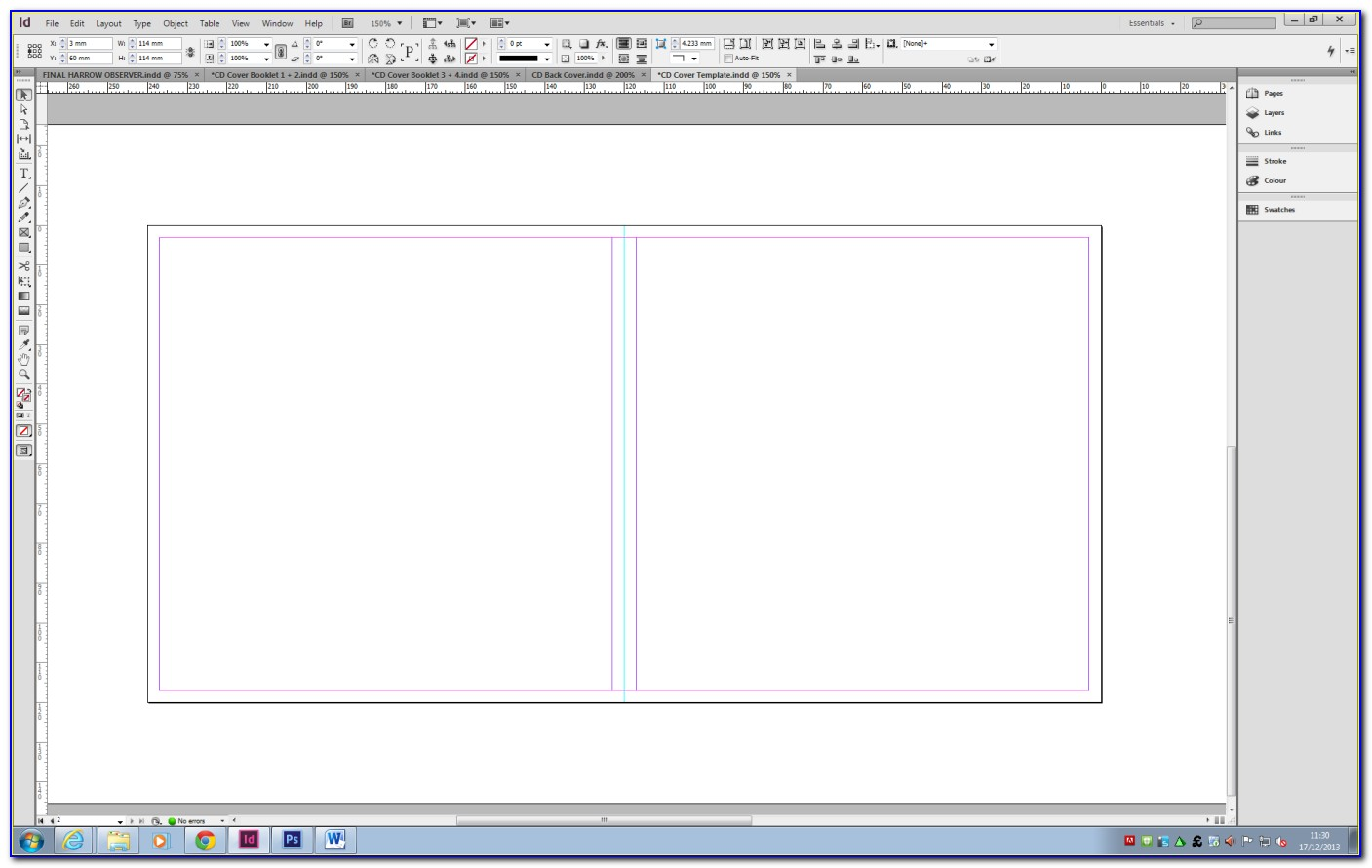 Dvd Booklet Template Word