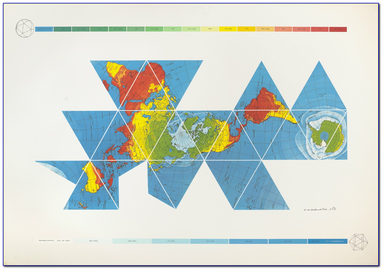 Dymaxion World Map Poster