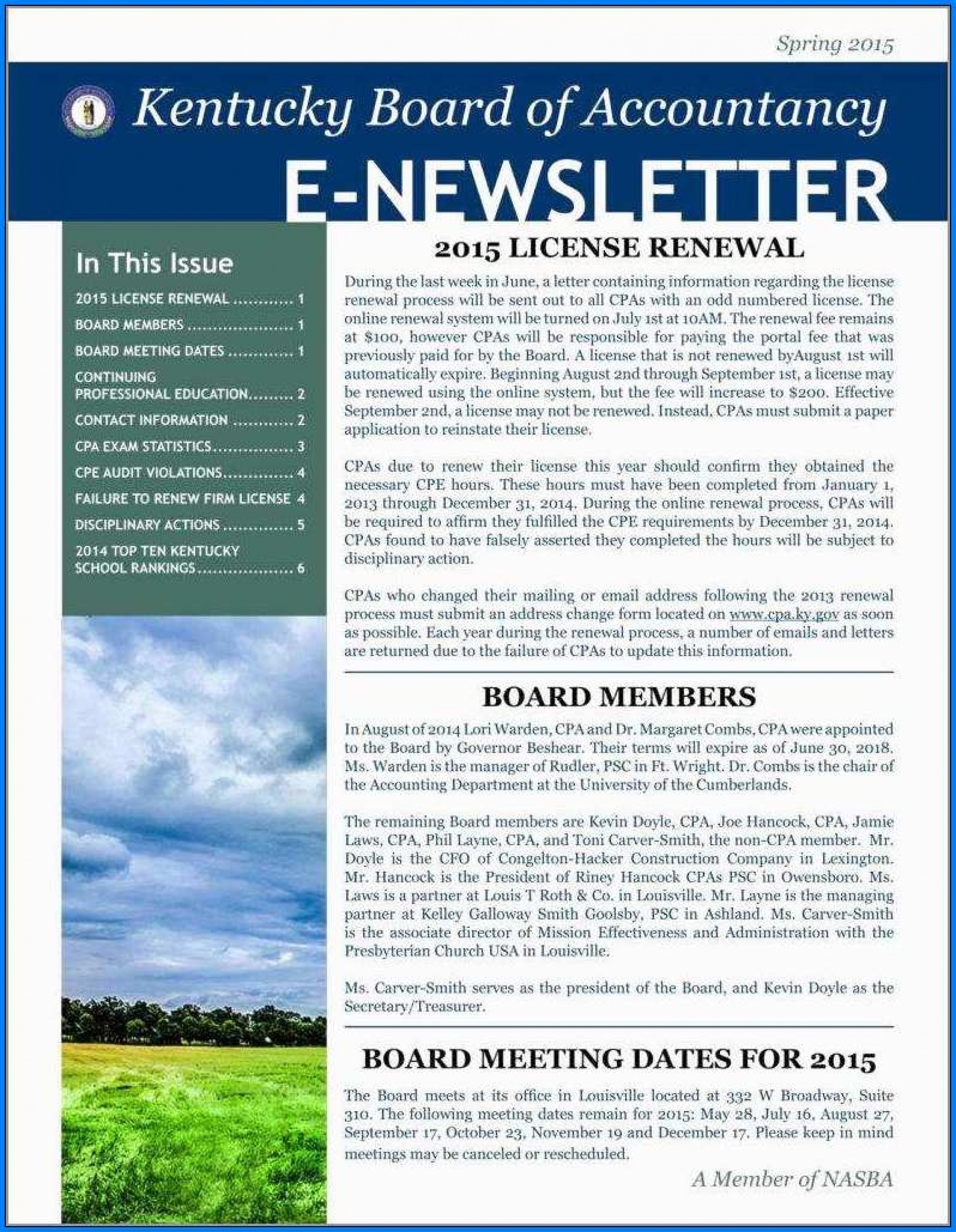 E Newsletter Templates Free Word
