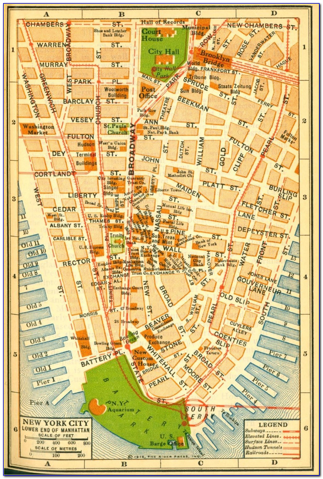 Early Maps Of Manhattan