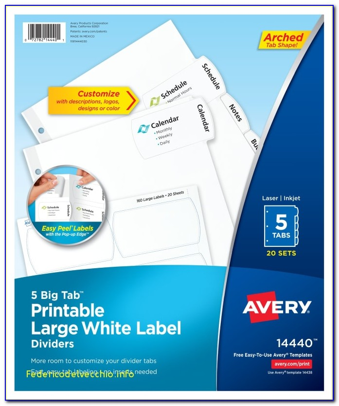 Avery Easy Apply Label Strips 5 Tab Template Elegant Avery Templates Big Tab Fieldstation