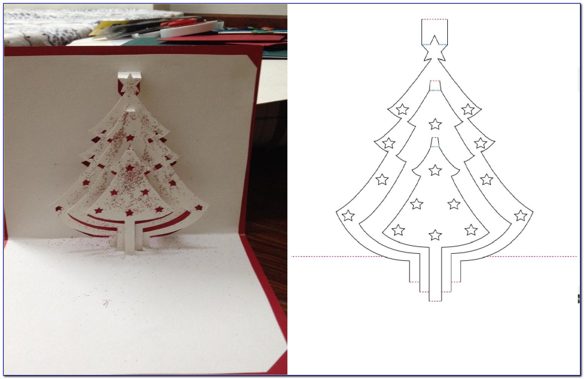 Easy Pop Up Christmas Cards Templates Free