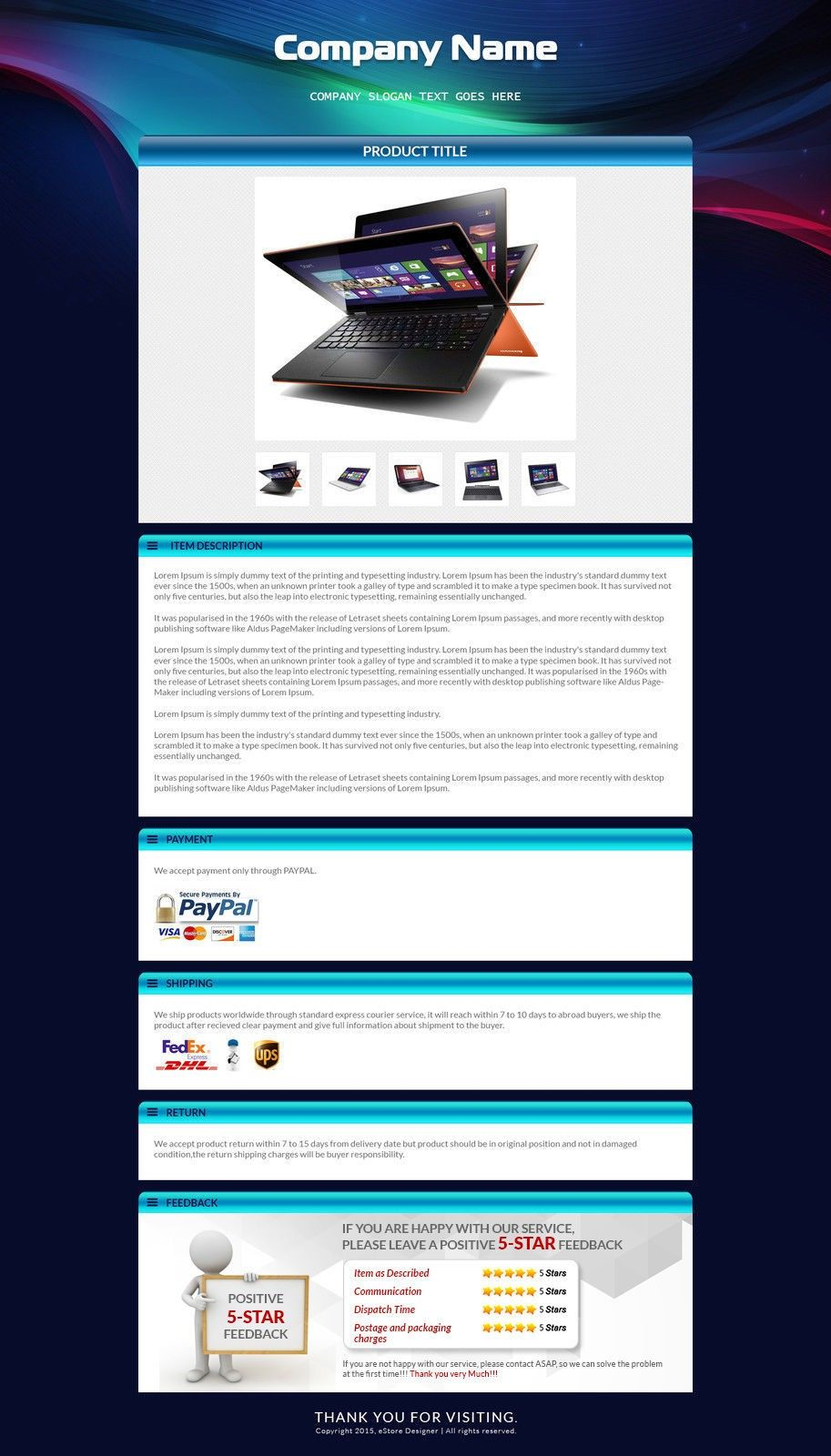 Clone Ebay Auction Template Vincegray2014