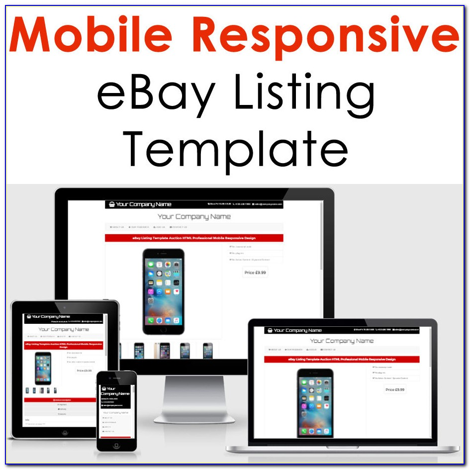 Ebay Listing Templates Free Vincegray2014