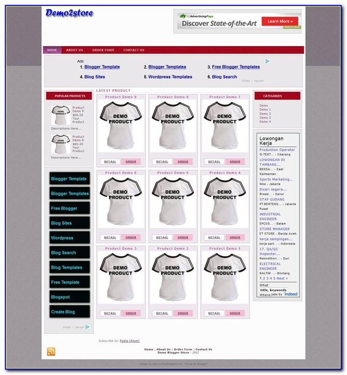 Ecommerce Blogger Templates Free Download
