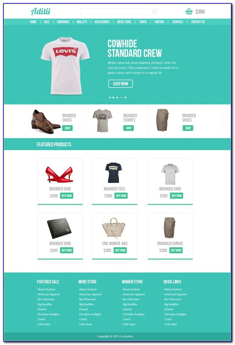 Ecommerce Websites Templates Free Download