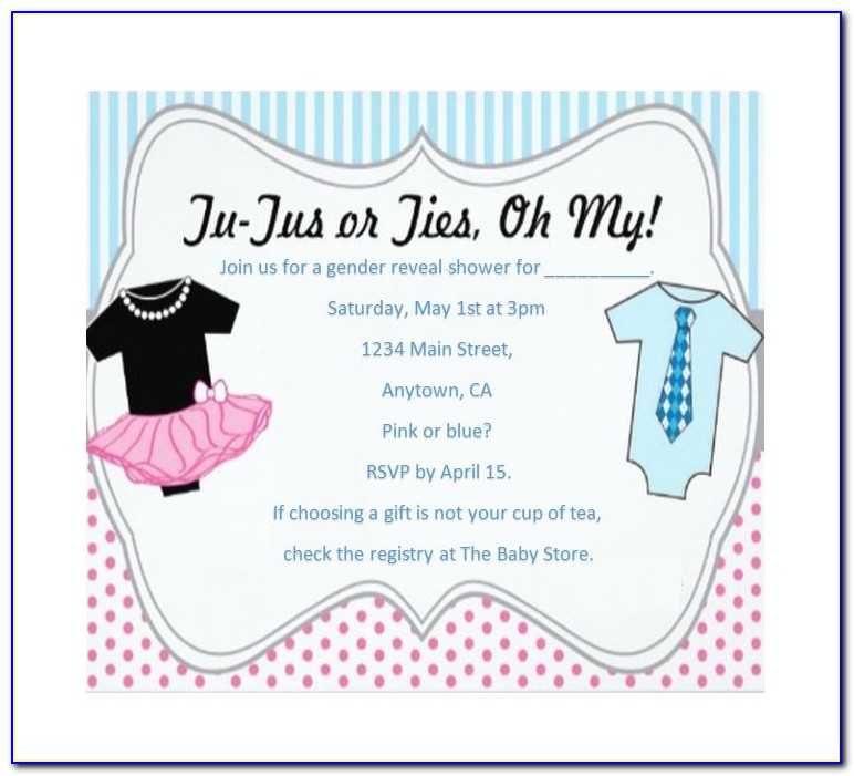 Editable Gender Reveal Invitation Template
