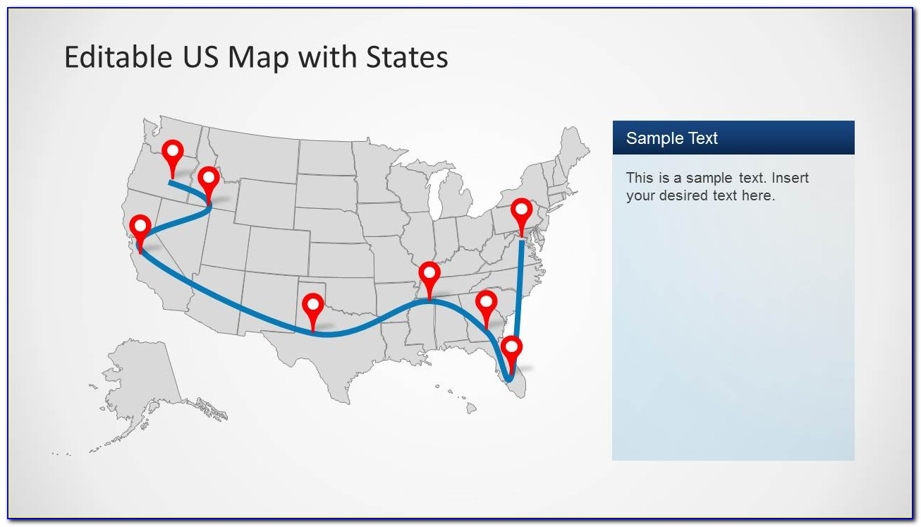 Editable Map Of The United States Powerpoint