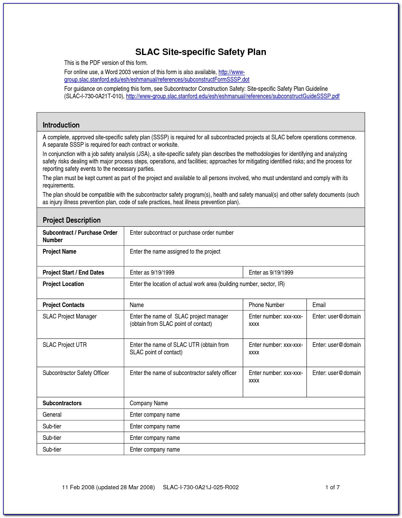 Electrical Contractor Safety Program Template