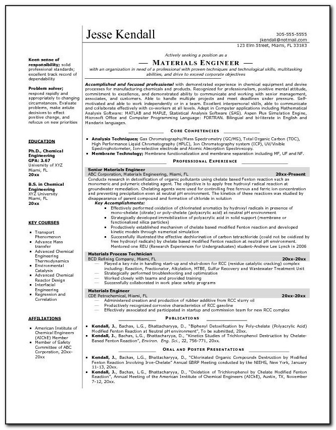 Electrical Engineer Resume Template Doc