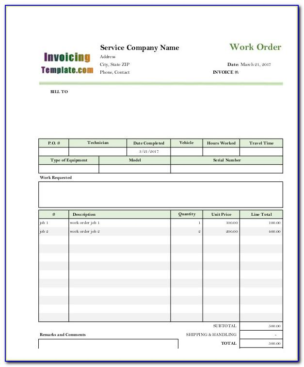 Electrician Invoice Template Excel
