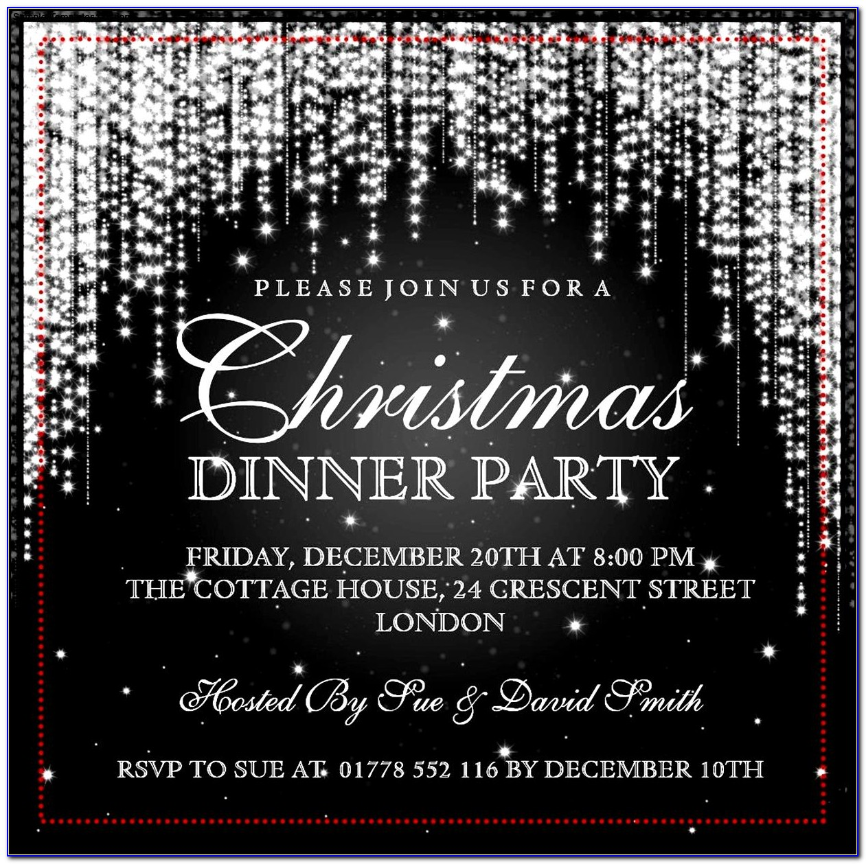 Elegant Christmas Party Invitation Template Free Download