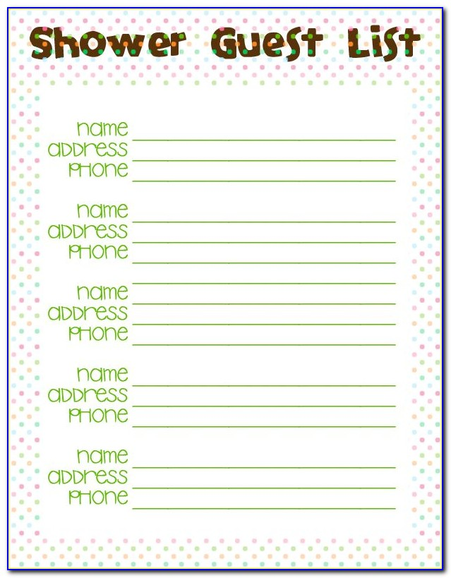 Elephant Baby Shower Guest Book Template