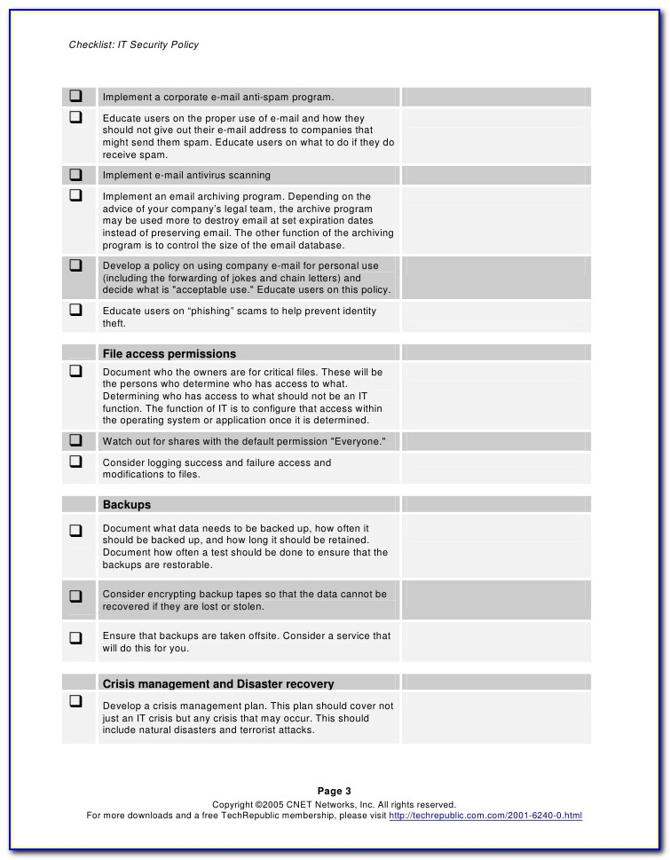 Email Data Retention Policy Template