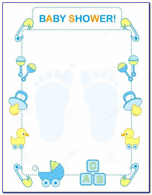 Email Templates For Baby Shower Invitations