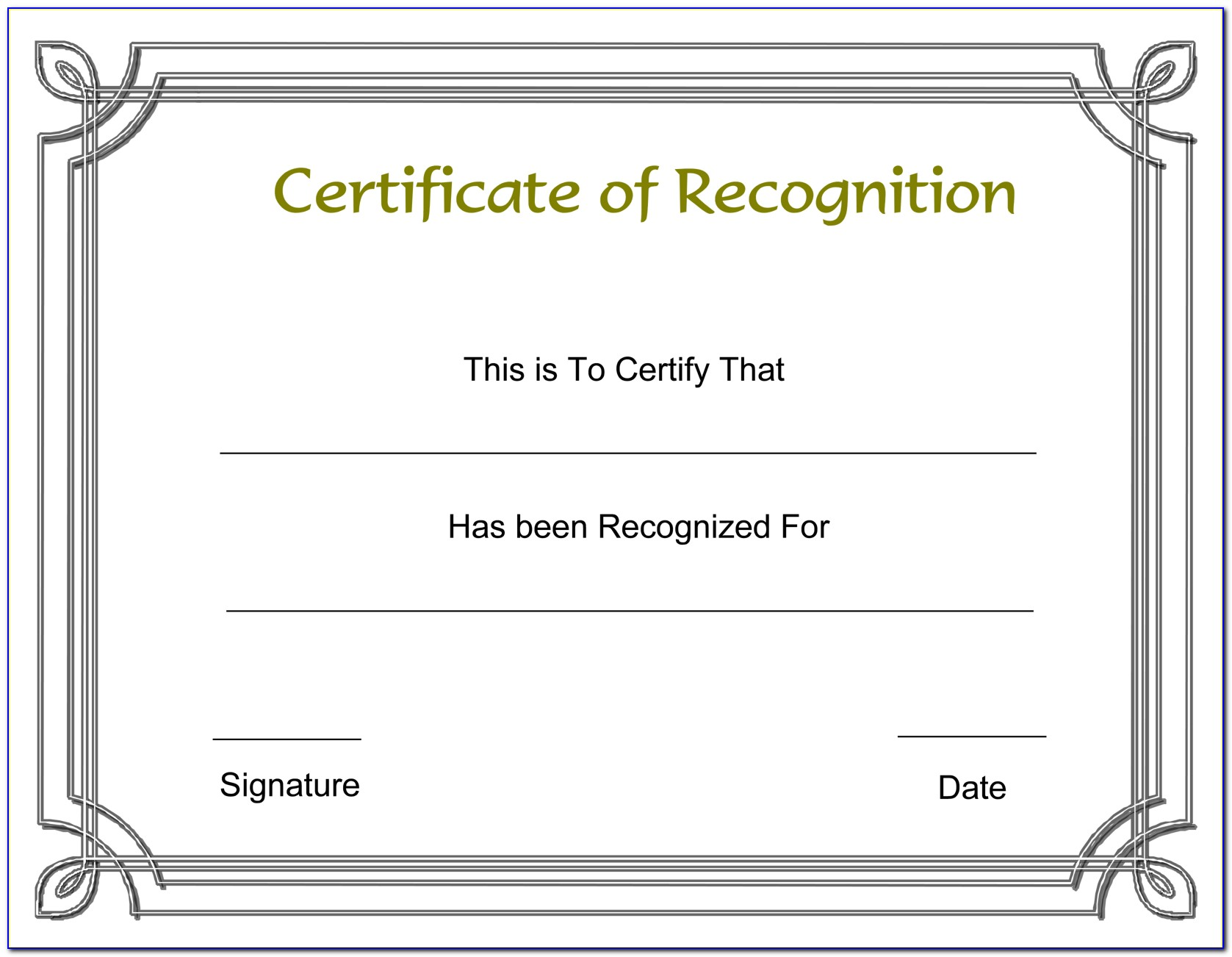 Employee Appreciation Certificate Word Template