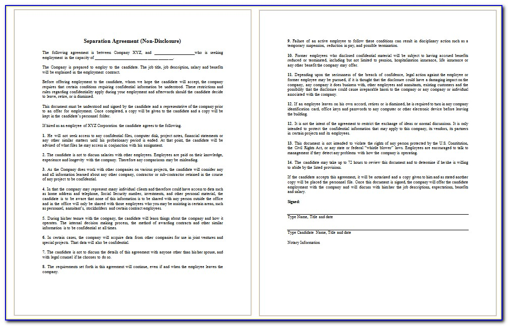 Employee Confidentiality Agreement Template Free