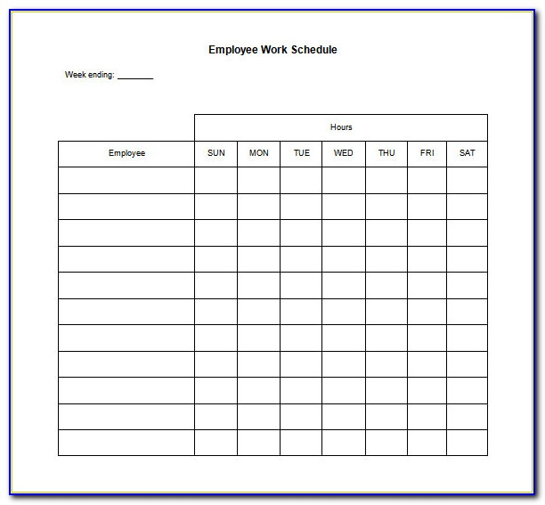 Employee Daily Schedule Template Free