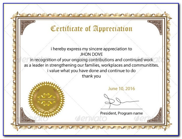 Employee Of The Month Award Certificate Template