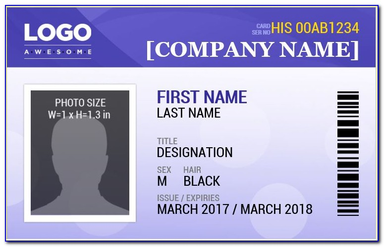 Employee Photo Id Badge Template Vincegray2014