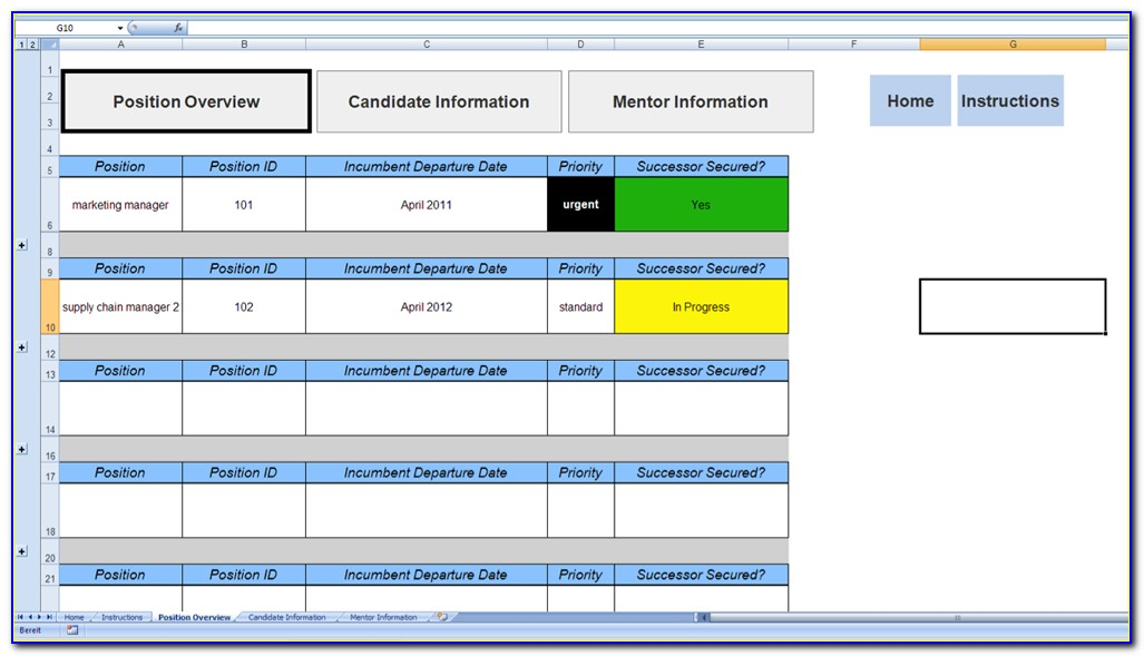Employee Succession Plan Template