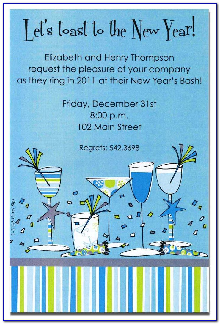 End Of The Year Office Party Invitation Templates