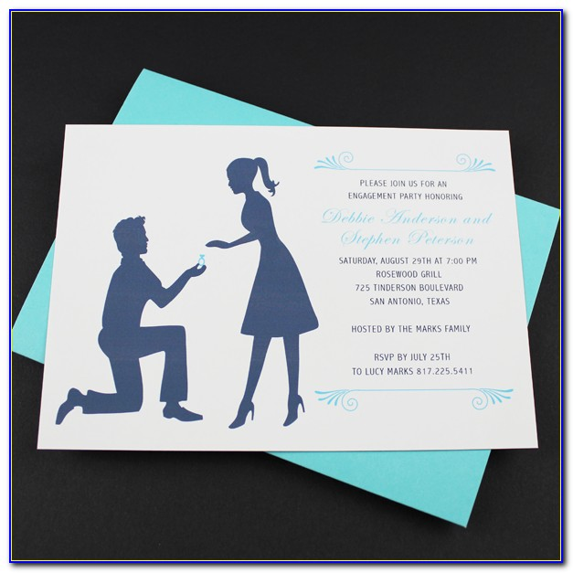 Engagement Invitations Template