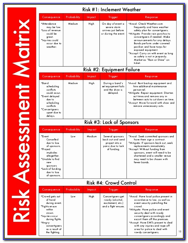 Risk Assessment Matrix Template Excel Qcxsh Beautiful Business Risk Assessment Financial Risk Assessment Checklist