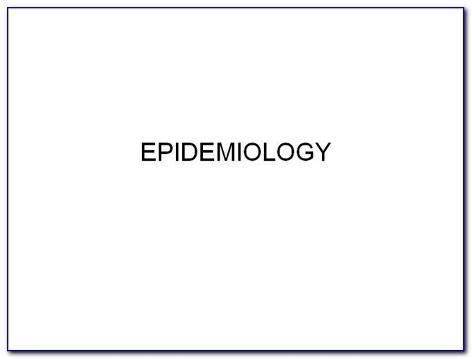 Epidemiology Templates Powerpoint