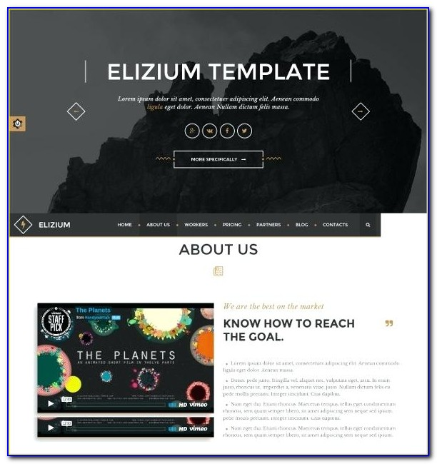 Event Management Website Templates Bootstrap Free