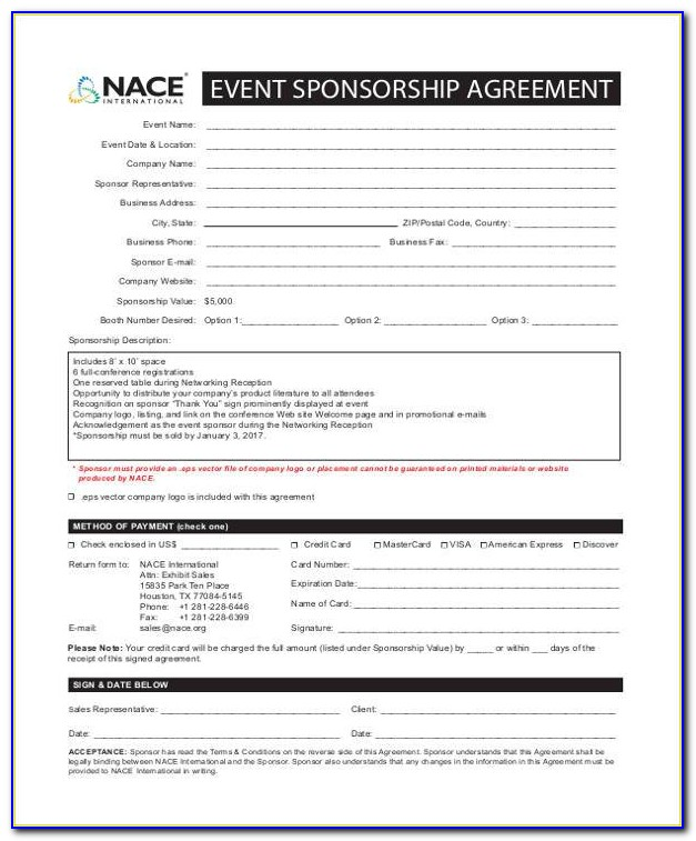 Podcast Sponsorship Contract Template Vincegray2014