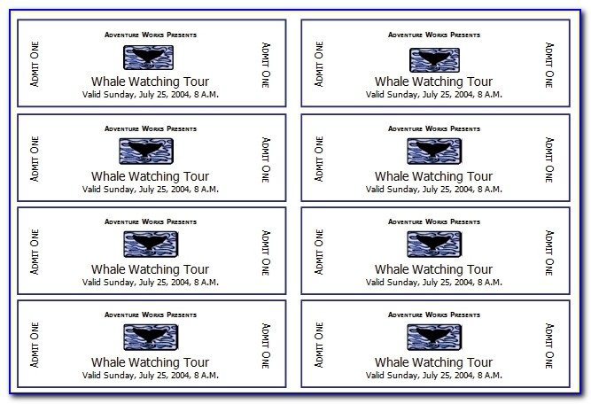 Event Ticket Template Templates For Microsoft Word