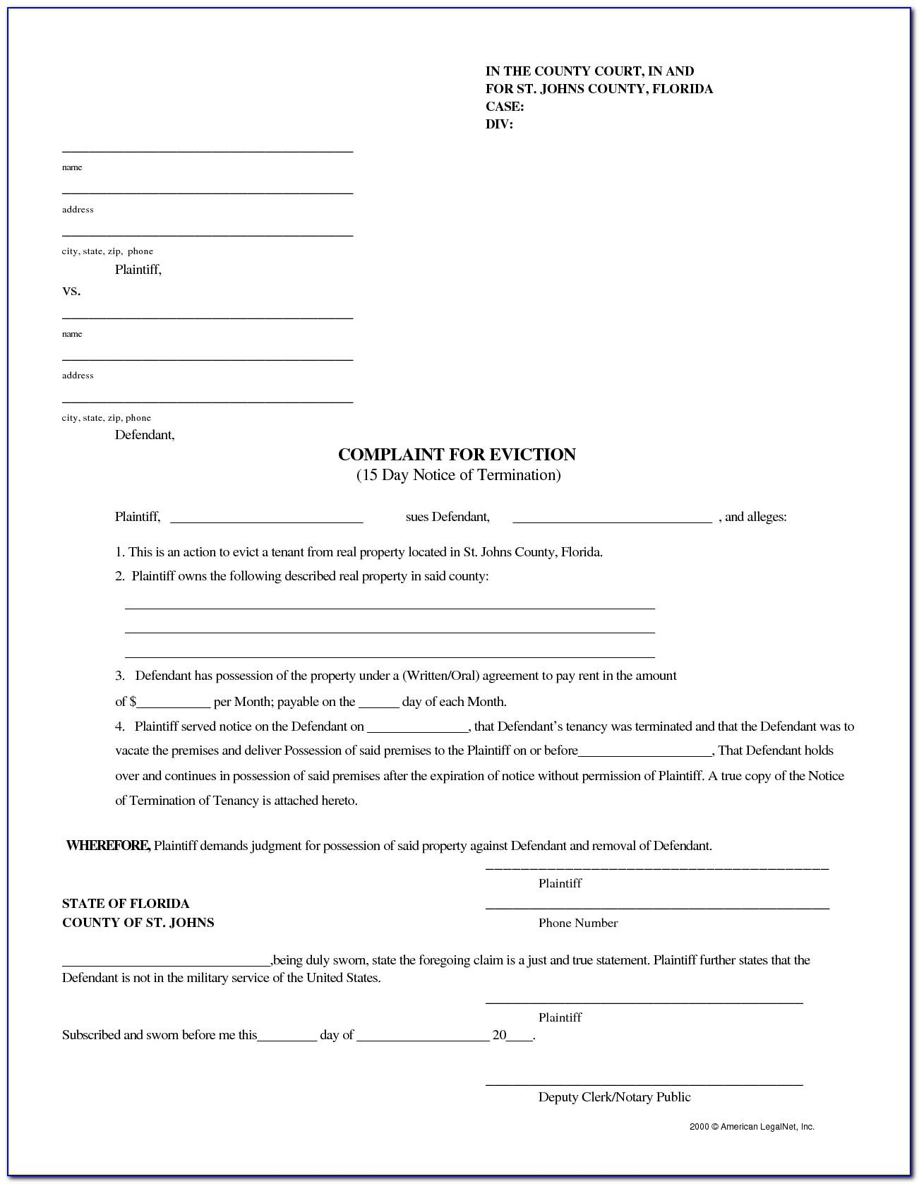 Eviction Notice Template Fl
