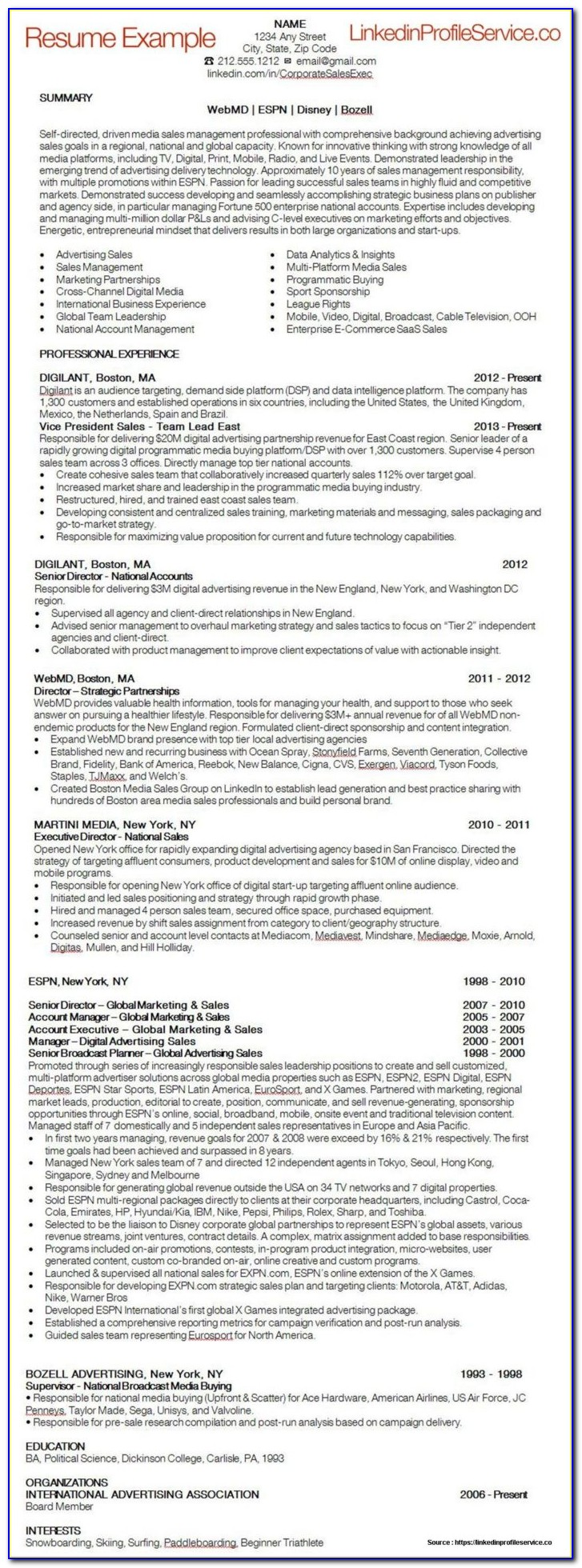 Example Of A Job Resume With No Experience