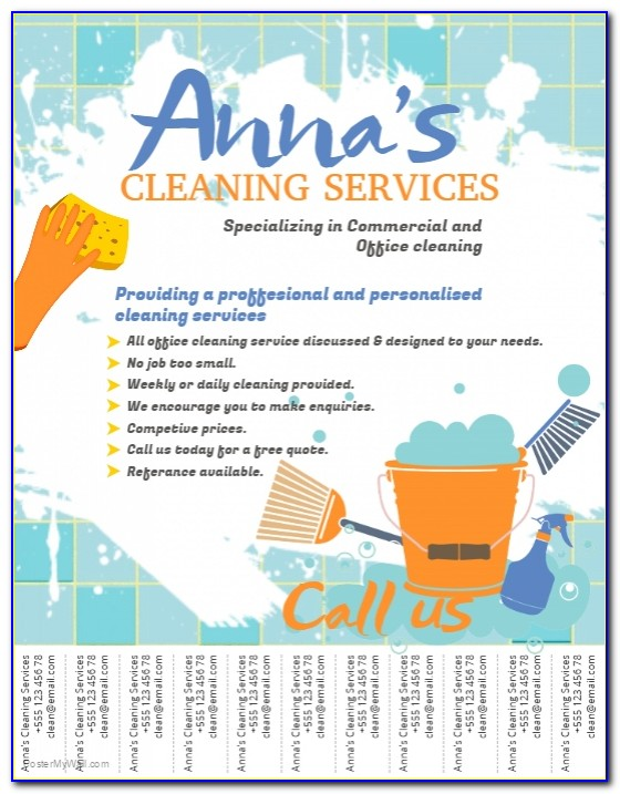 Examples Of Flyers For Cleaning Business