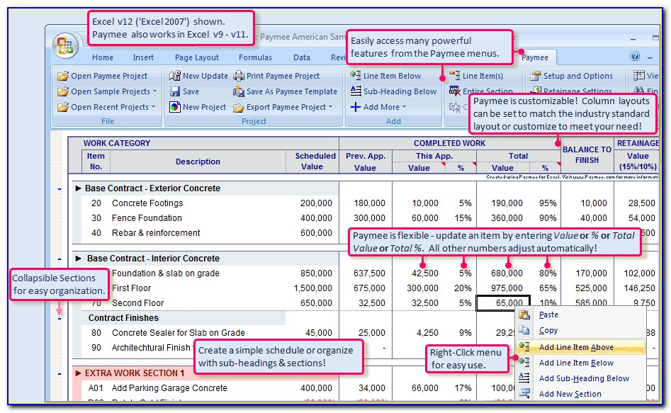 Excel Aia Forms G702 And G703