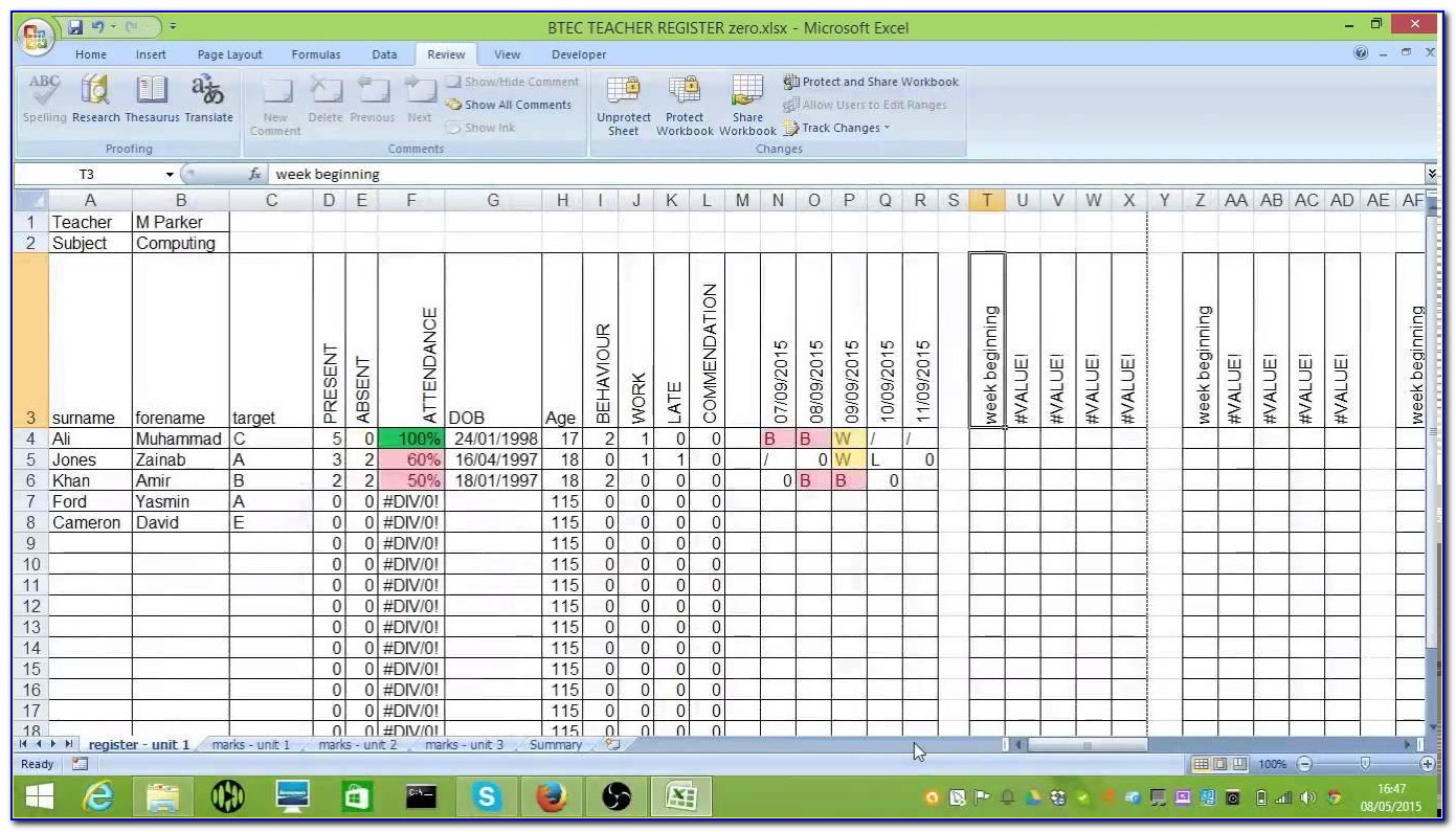 Excel Incident Tracking Template