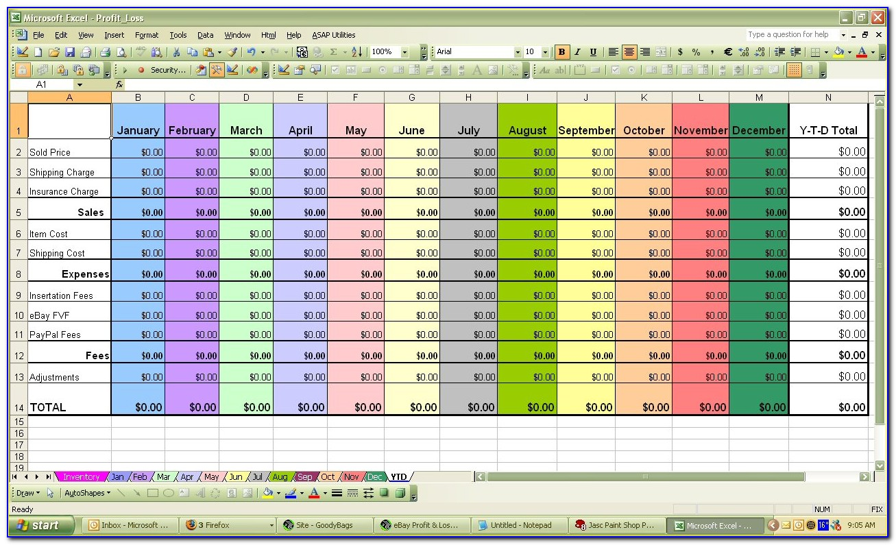 Excel Inventory Spreadsheet Templates For Liquor