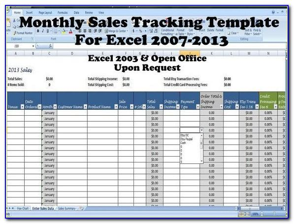Excel Retail Sales Tracking Template
