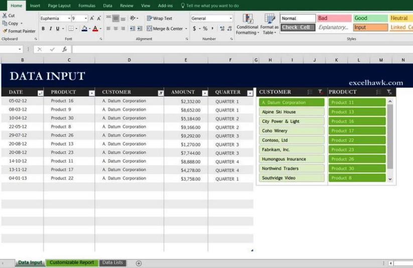 Excel Template For Sales