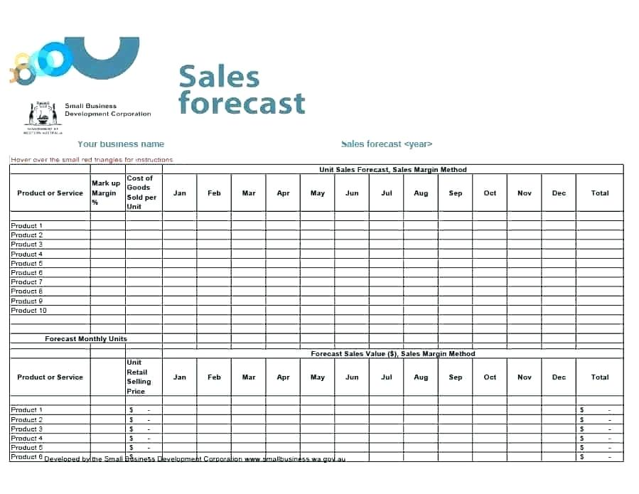 Excel Templates For Sales Forecasting