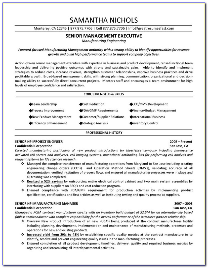Executive Assistant Resume Formats